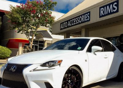 Lexus window tint and custom wheels
